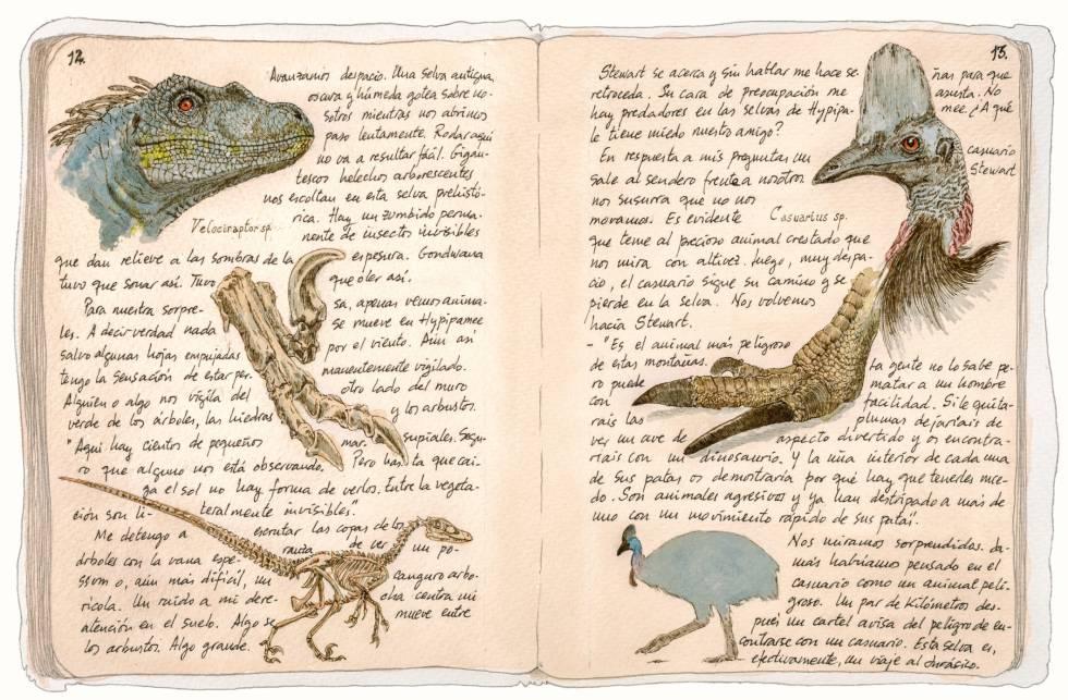 Cuaderno con anotaciones y dibujos realizados por González Sitges durante su última expedición a Australia.