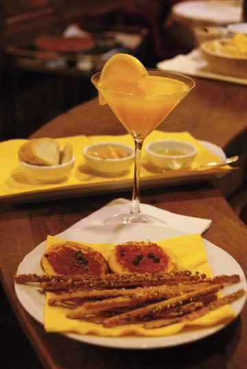 Detalle del aperitivo vespertino en el Cibrèo.