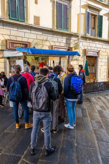 El 'food truck' Tripperia Pollini, en Piazza Sant'Ambrogio.