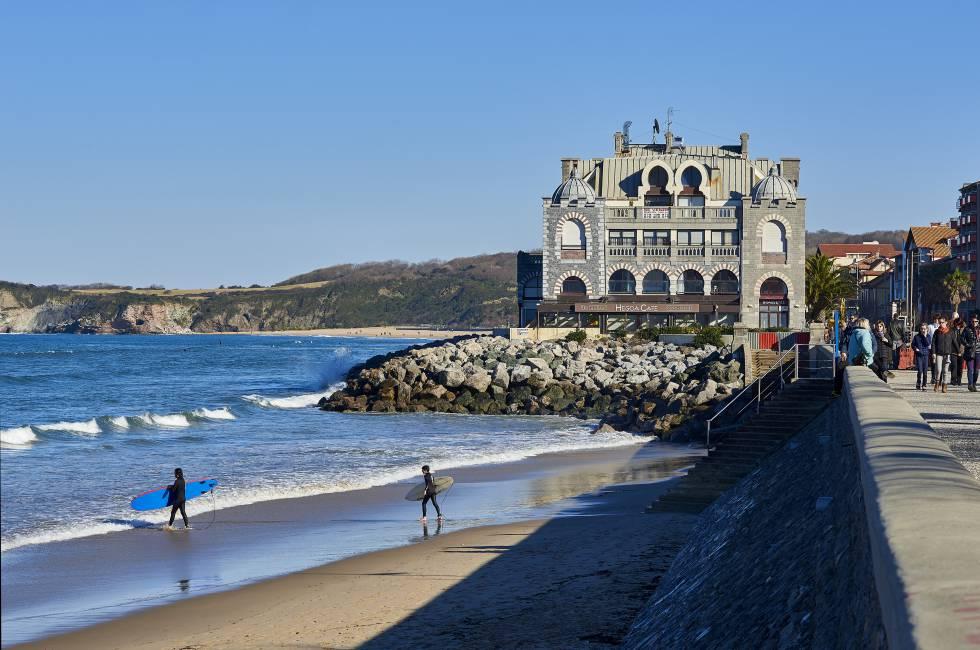 Playa de Hendaya, en el País Vasco francés.