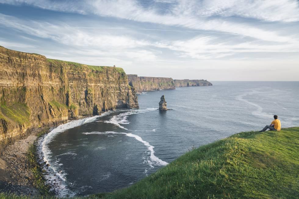Acantilados de Moher, en el condado de Clare, en la costa oeste de Irlanda.