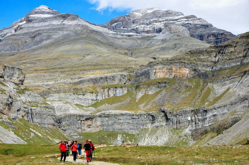 Ruta por el circo glaciar de Soaso, en el parque nacional de Ordesa y Monte Perdido.