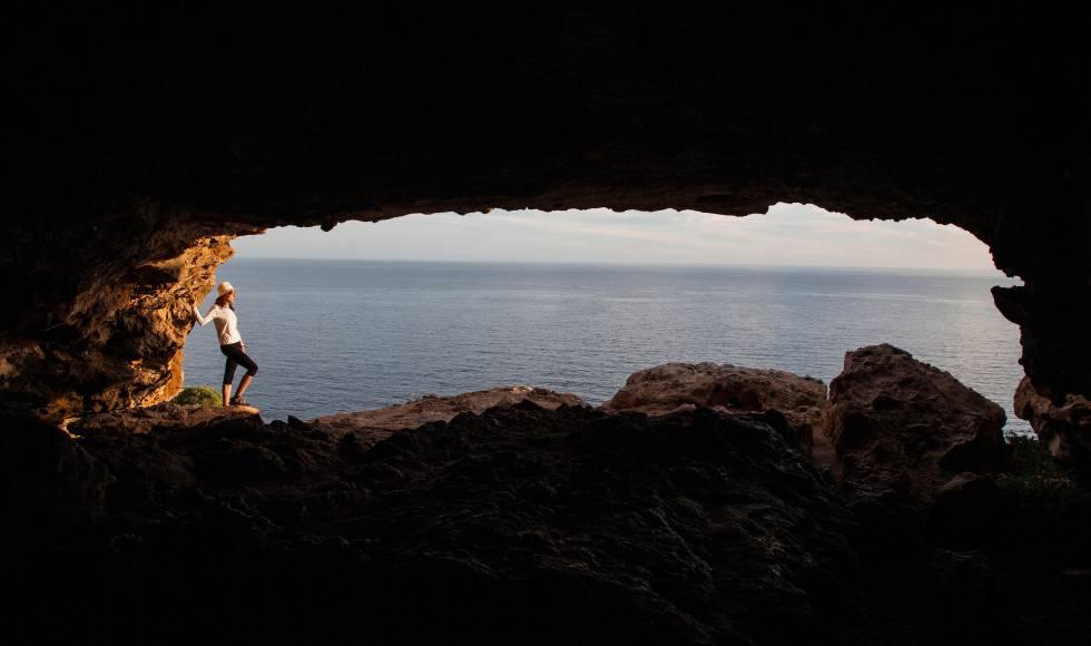 La cueva de Cap de Barbaria, en la isla balear de Formentera.