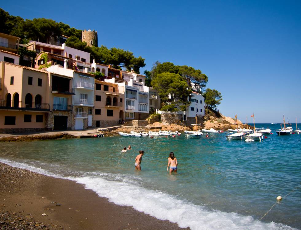 La playa de Sa Tuna, en Begur (Girona)