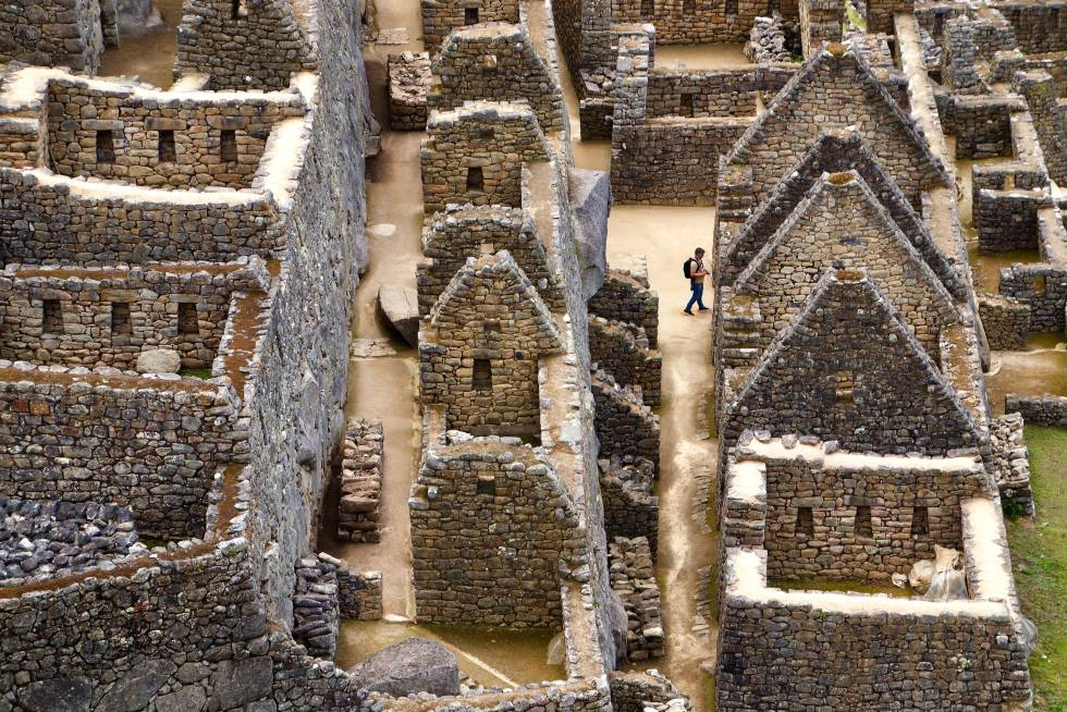 Las ruinas de la antigua ciudad inca de Machu Picchu, en Perú.