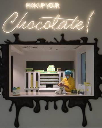 La tienda de The Chocolate Story, museo dedicado al chocolate en WOW (Oporto).