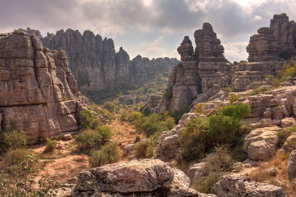 El paraje natural de El Torcal, con sus formaciones rocosas de formas inesperadas.