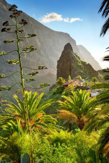 El caserío de Masca, en el parque rural de Teno (Tenerife).