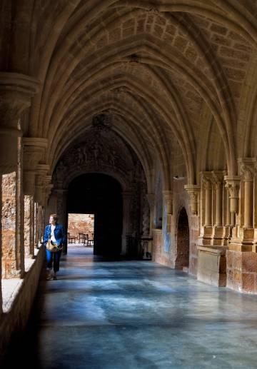 El claustro del Monasterio de Piedra, en Nuévalos (provincia de Zaragora).