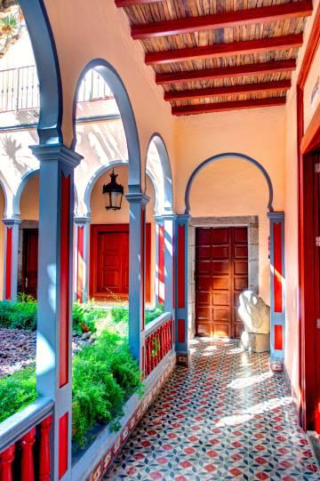 Arquitectura tradicional en la villa de Gáldar, en la zona norte de la isla de Gran Canaria.
