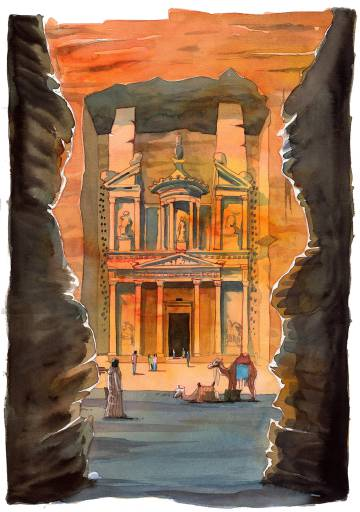 La ciudad de Petra, vista por Joaquín González Dorao.