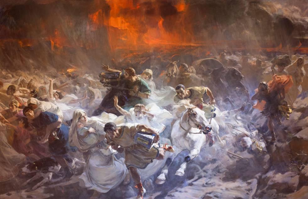 'Los últimos días de Pompeya' (1900), de Ulpiano Checa, pintor originario de Colmenar de Oreja.