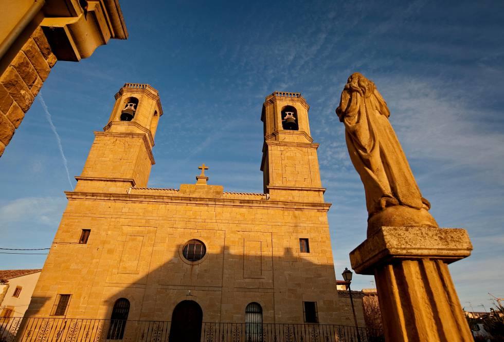 La iglesia de Barásoain, en la comarca de la Valdorba.