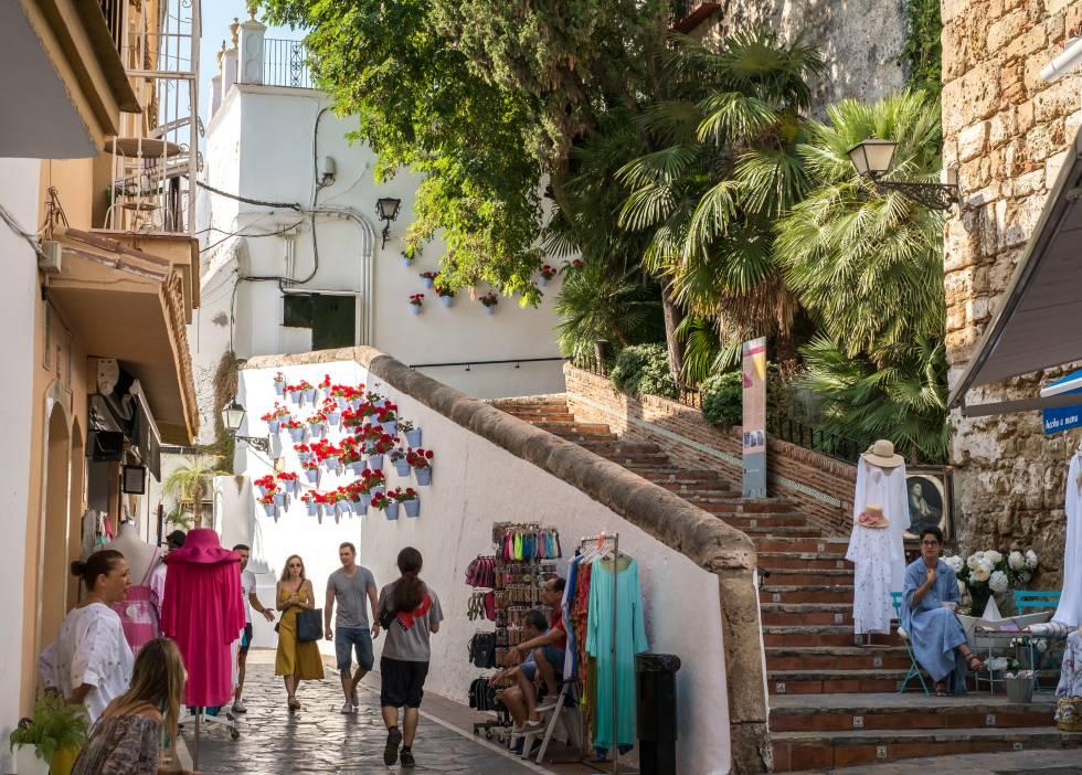 Una calle del centro histórico de Marbella.