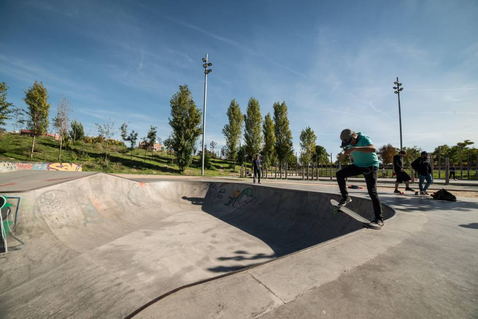 El 'skatepark' de Madrid Río.