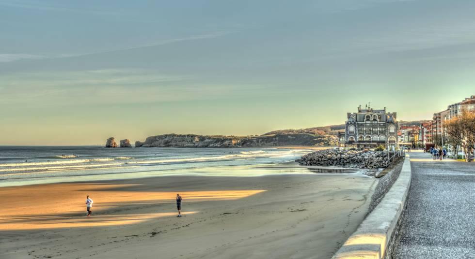 La playa de Hendaya, en el País Vasco francés.