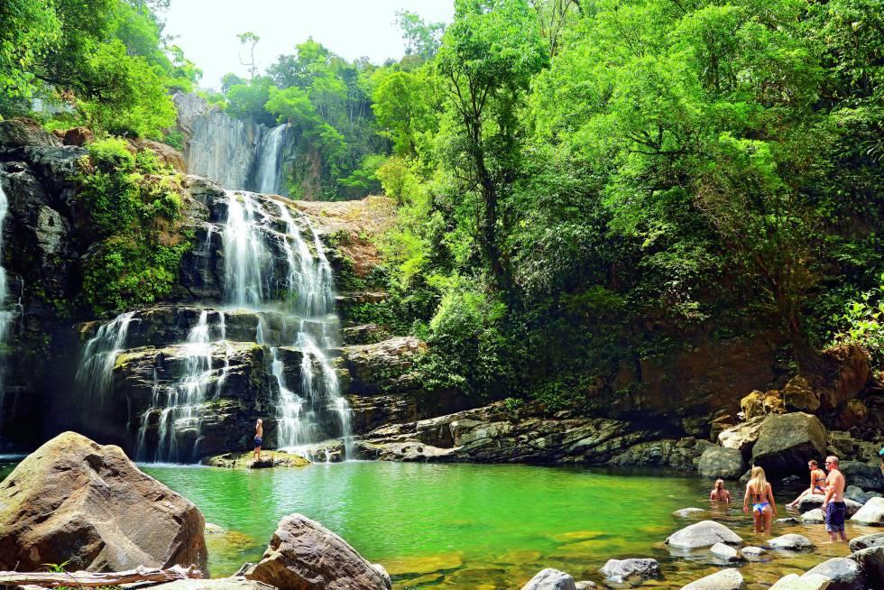 Cataratas Nauyaca, cerca de Dominical, en Costa Rica.