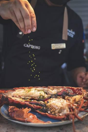 Plato del restaurante Cap Roig, en Port de Sóller (Mallorca).