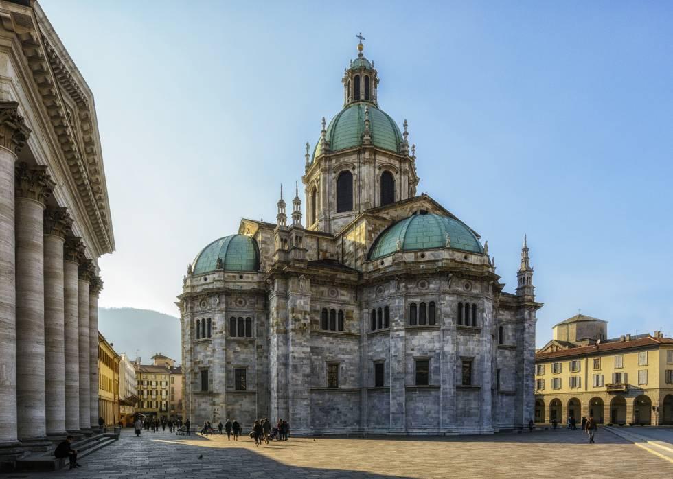 Exterior de la catedral de Como.