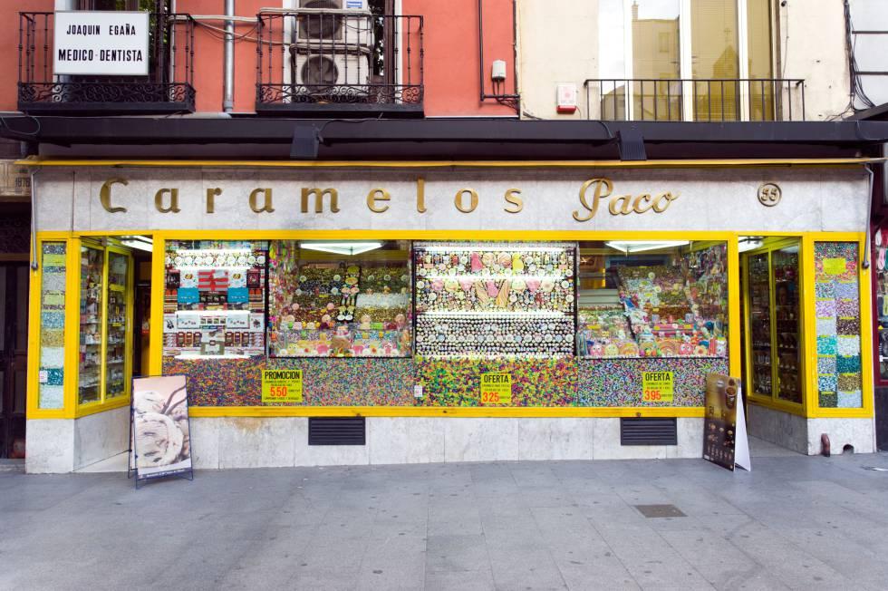 Caramelos Paco, en el barrio madrileño de La Latina.