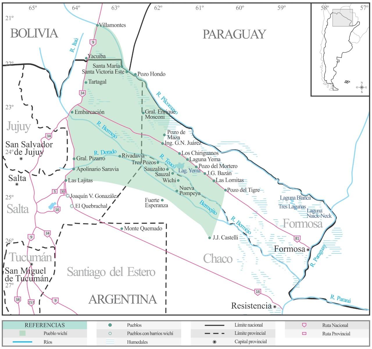 Presencia wichi en la Argentina