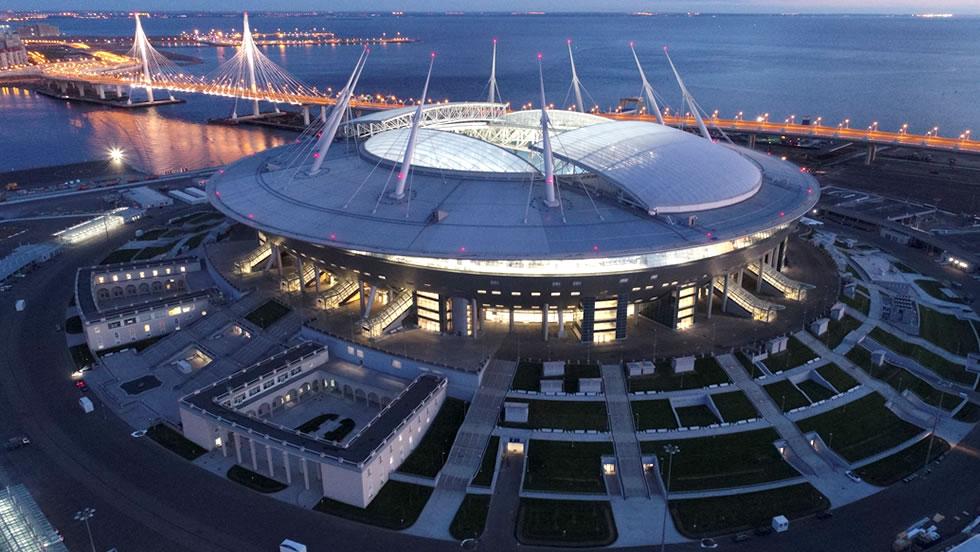 Resultado de imagen de estadio de rusia san petersburgo