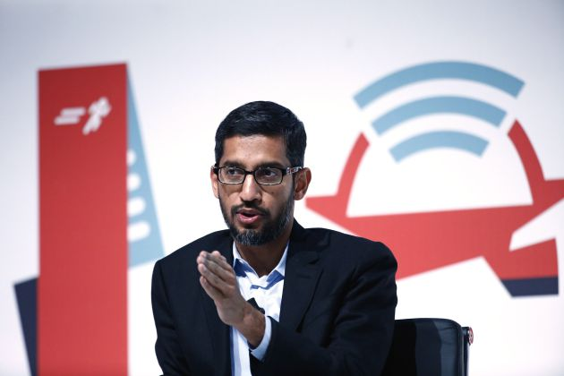 Sundar Pichai en el Mobile World Congress