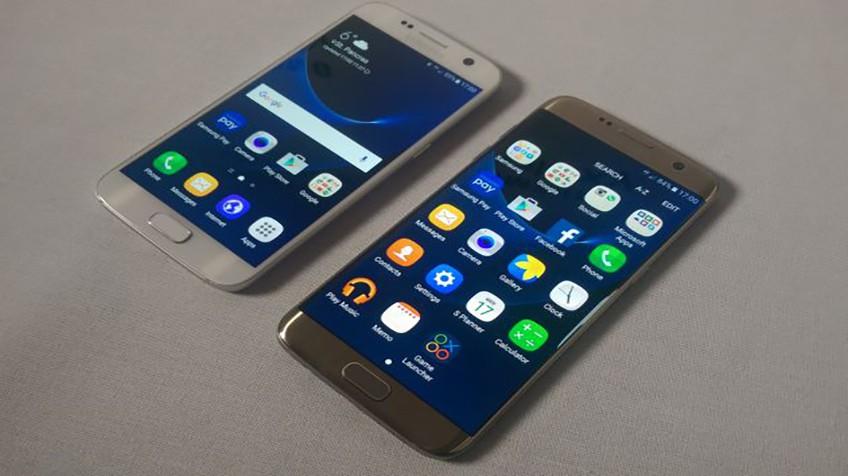 Samsung Galaxy S7 (izquierda) y S7 Edge.