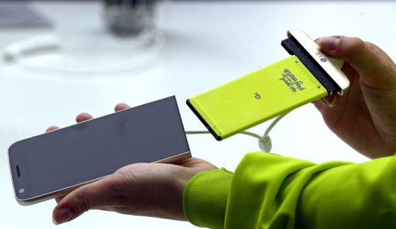 Smartphone LG G5  Bateria removível, duas câmeras traseiras e ... b3cc389915