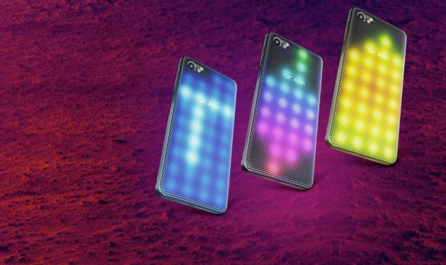 Alcatel A5, con carcasa LED personalizable.
