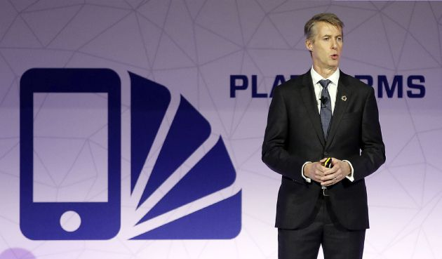 El director general de GSMA, Mats Granryd, hoy en el Mobile World Congress (MWC) de Barcelona.