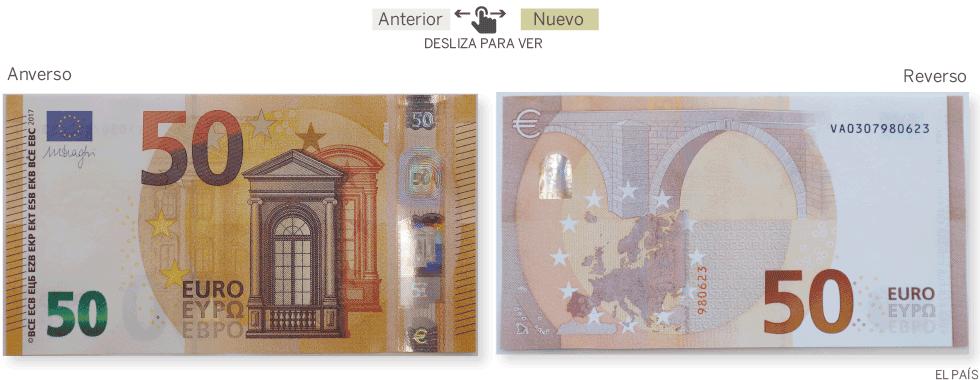 Foto de un billete de 50 euros 69