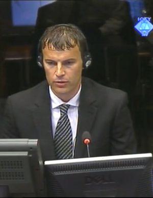 Elvedin Pasic, el primer testigo de la acusación.