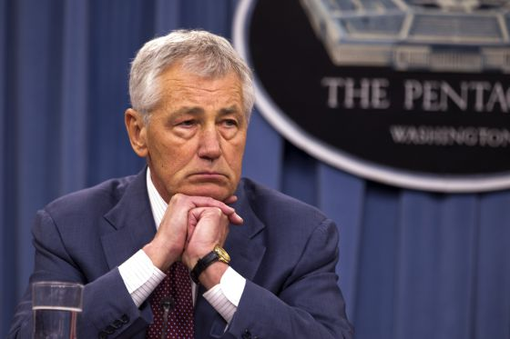 El secretario de Defensa, Chuck Hagel.