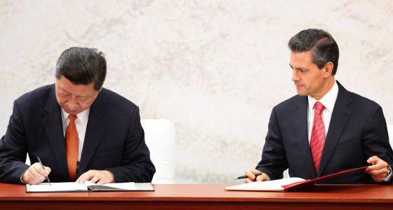 Xi Jinping y Peña Nieto firman el 'pacto del tequila'