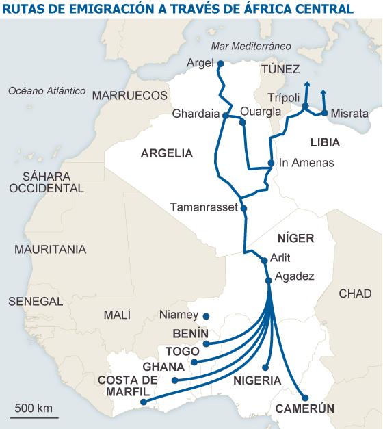 Emigrantes africanos varados en Libia frente al sueño europeo ...