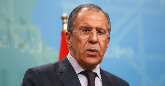 Russia's Foreign Minister Sergei Lavrov speaks during a joint news conference with Iraq's Foreign Minister Hoshyar Zebari in Baghdad February 20, 2014.  REUTERSThaier al-Sudani (IRAQ - Tags: POLITICS HEADSHOT PROFILE)