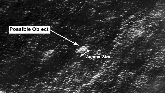 Imagem de satélite dos restos localizados.