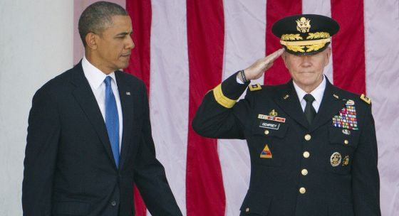 Barack Obama y el general Martin Dempsey.