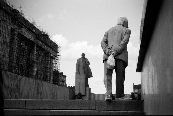 Monumento a Lenin, en Sofía, en abril de 1989.