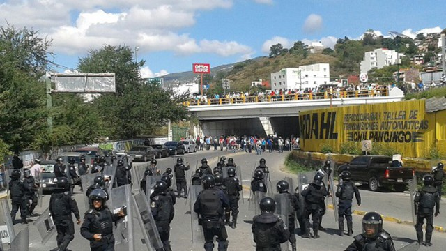 Distúrbios em Chilapancingo, no Estado de Guerrero.