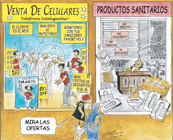 Un dilema de Latinoamérica: ¿una televisión o un baño con inodoro?
