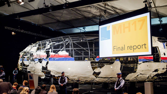 Reconstrução do MH17.