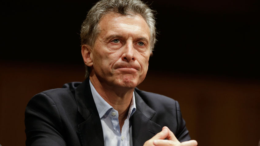 Mauricio Macri nesta segunda-feira, em sua primeira entrevista coletiva como futuro presidente da Argentina.