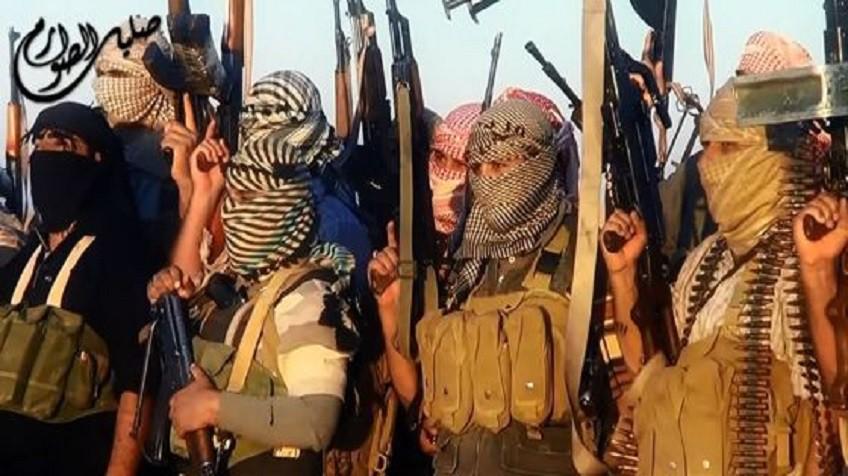 Cena de um vídeo de propaganda do Estado Islâmico em 2014.