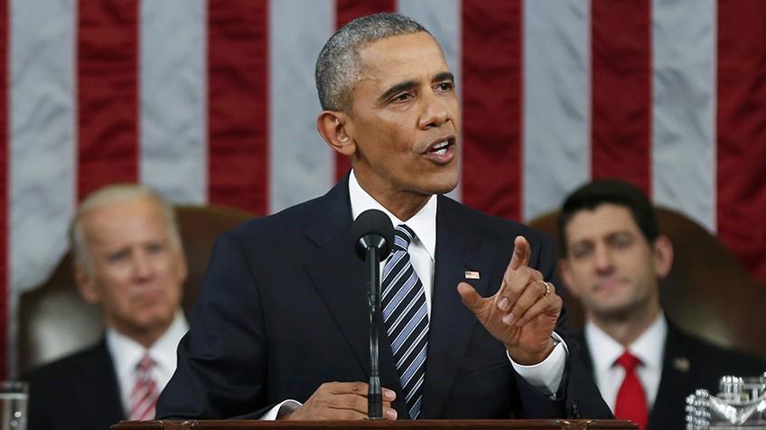 Obama discursa diante do Legislativo.