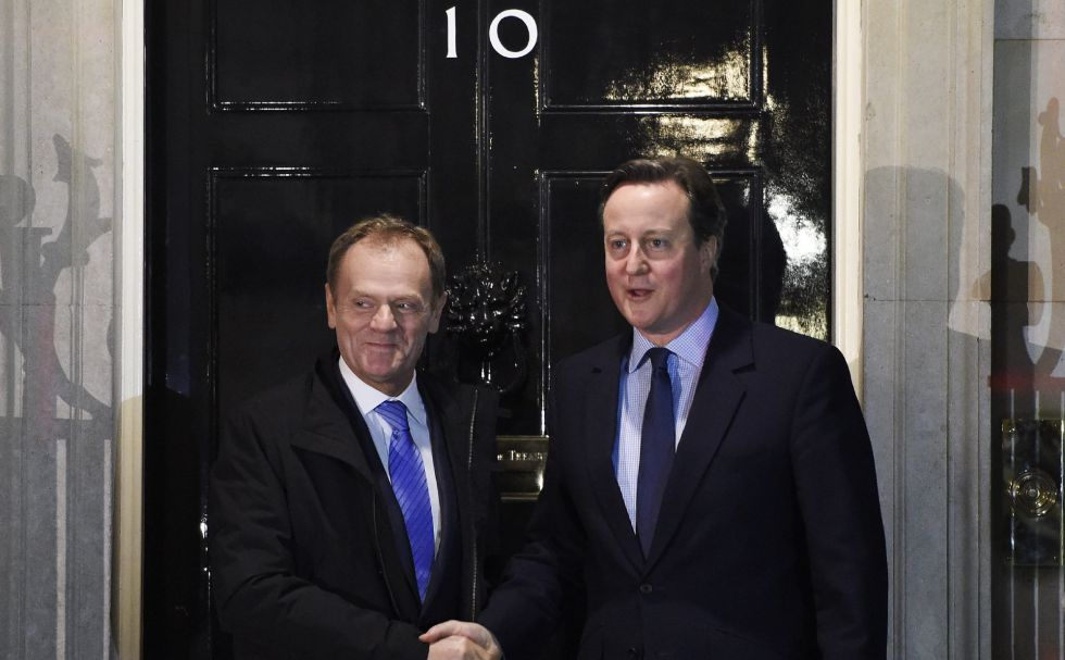 David Cameron y Donald Tusk