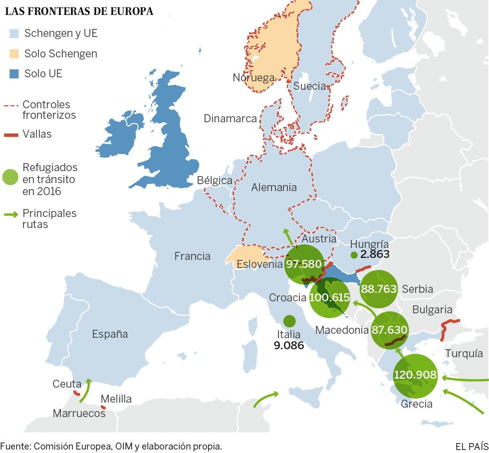 Refugiados: La UE Advierte A Los Inmigrantes Económicos