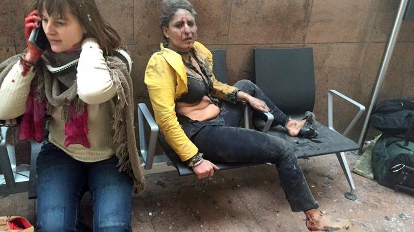 Duas mulheres feridas após as explosões. Foto: Ketevan Kardava