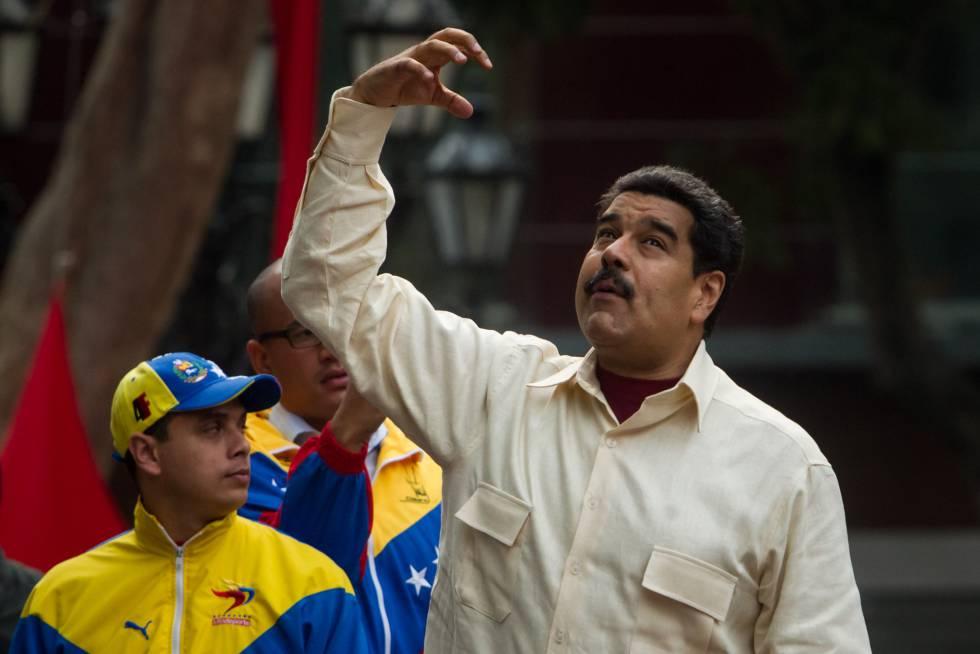 Nicolás Maduro, durante el Congreso de la Patria